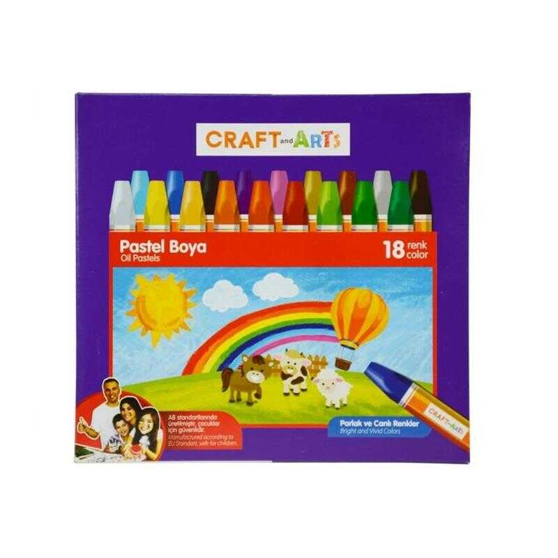 CRAFT AND ARTS U1818 18 RENK PASTEL BOYA
